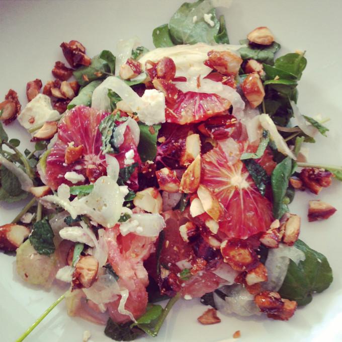 Diana Henry fennel, feta, almond salad