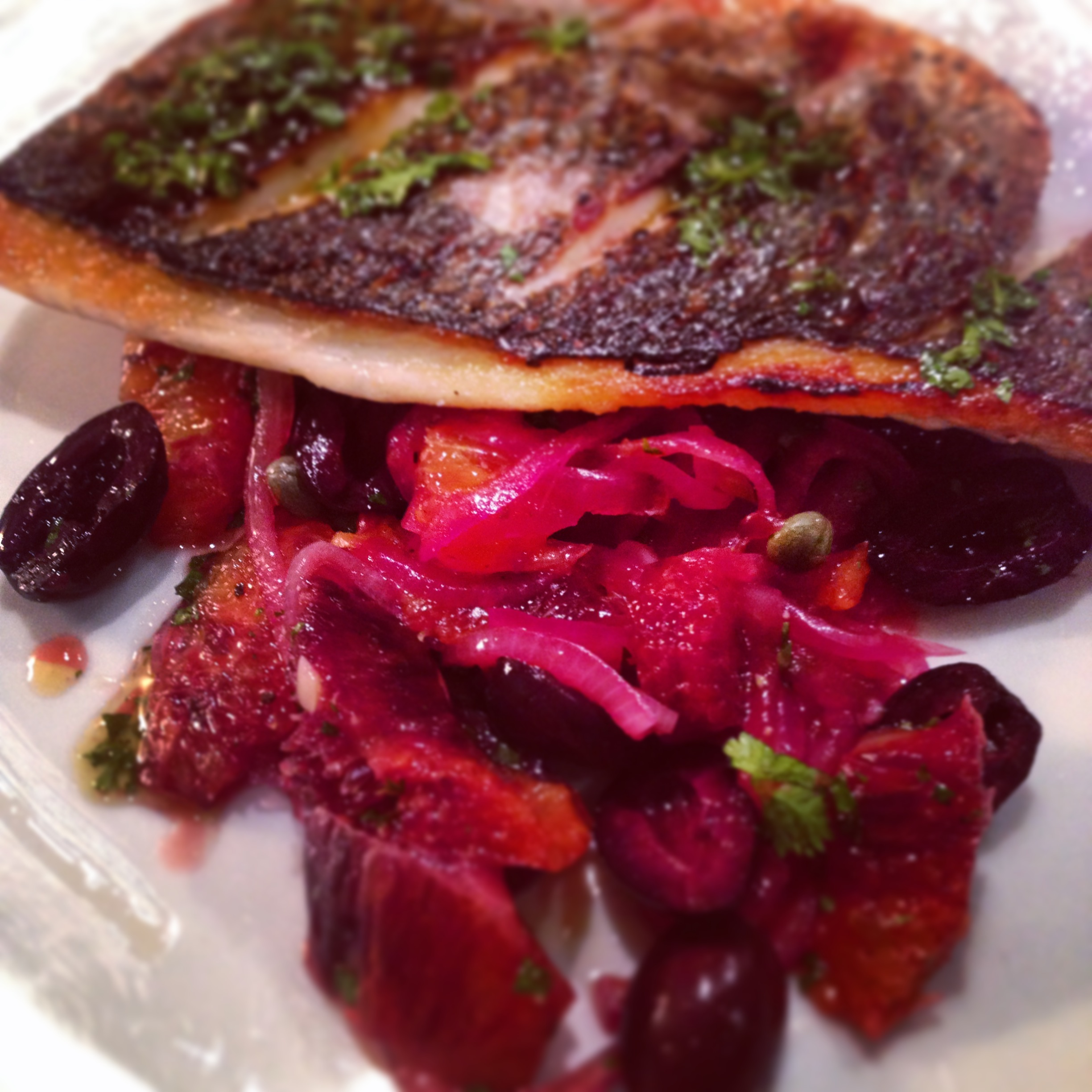 Bream & Blood Orange