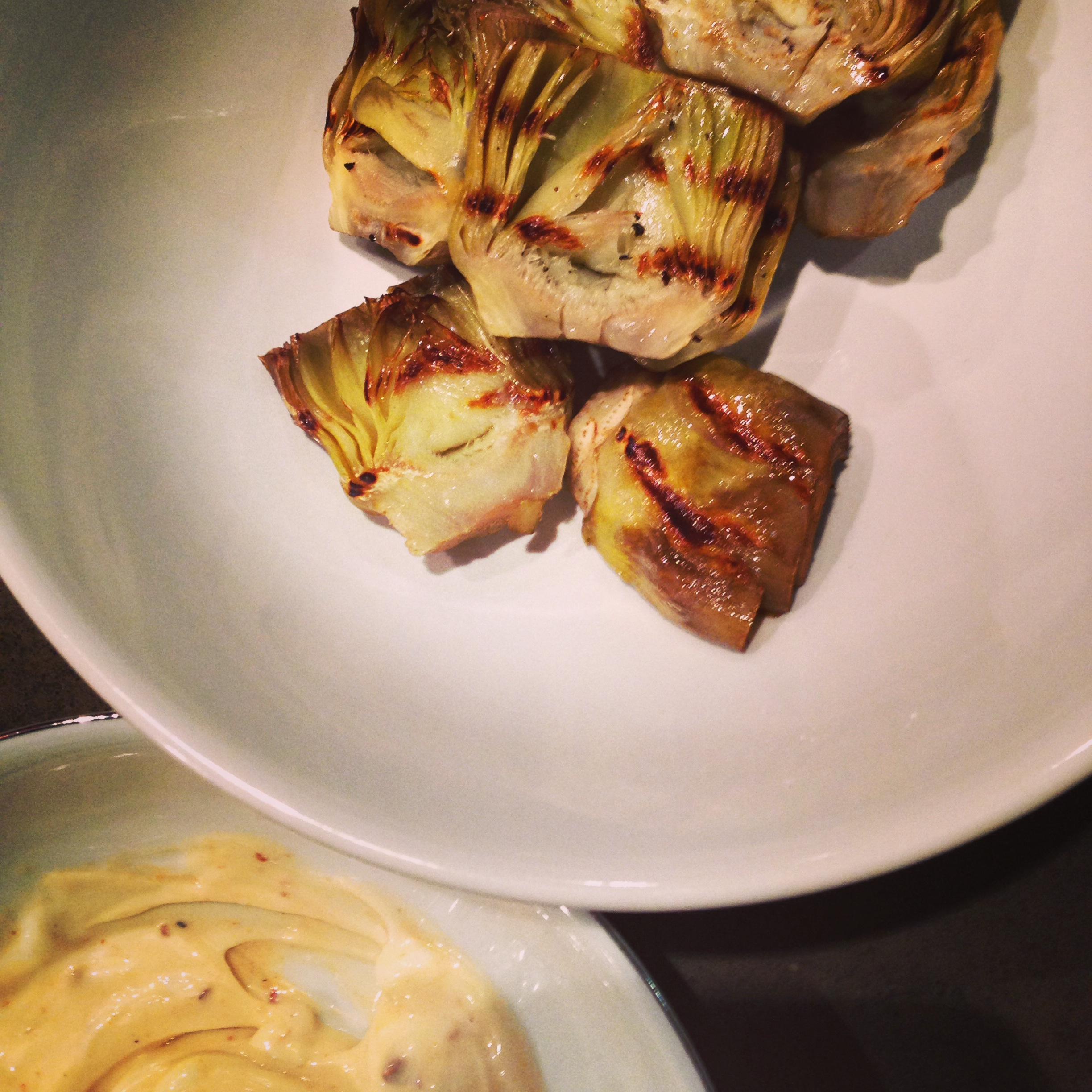 Griddled Artichoke with Chipolte Mayo