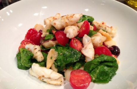 Squid, Bean & Chilli Salad